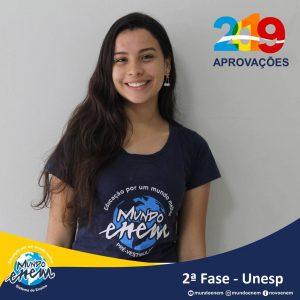 Parabéns Monique pela aprovação para a 2ª fase da UNESP - Universidade Estadual Paulista