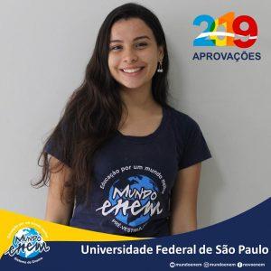 🏆 Parabéns 🏆 Monique pela aprovação em Interdisciplinar em Ciências e Tecnologia na Unifesp - Universidade Federal de São Paulo