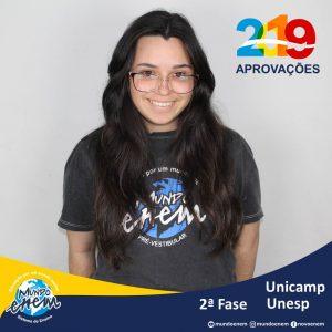 Parabéns Patricia pelas aprovações para a 2ª fase da UNESP - Universidade Estadual Paulista e Unicamp - Universidade Estadual de Campinas