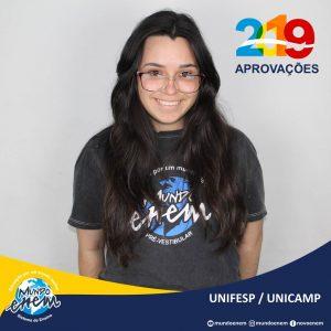 🏆 Parabéns 🏆 Patricia pela aprovação em Psicologia na Unifesp - Universidade Federal de São Paulo e Engenharia Ambiental na Unicamp - Universidade Estadual de Campinas