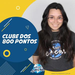 Parabéns Patrícia, 860 pontos na Redação do ENEM.