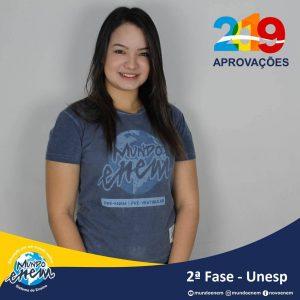 Parabéns Rebeca pela aprovação para a 2ª fase da UNESP - Universidade Estadual Paulista