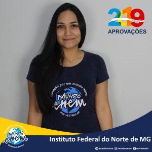 🏆 Parabéns 🏆 Roberta pela aprovação em Engenharia Civil no Instituto Federal do Norte de MG.