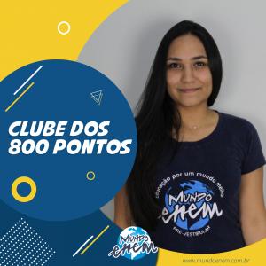 Parabéns Roberta, 820 pontos na Redação do ENEM.