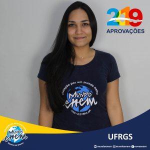 🏆 Parabéns 🏆 Roberta Milani pela aprovação em Engenharia Civil na UFRGS - Universidade Federal do Rio Grande do Sul