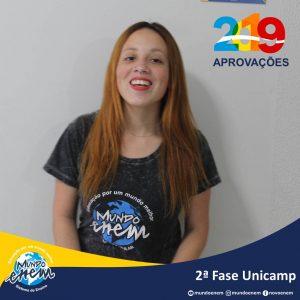 Parabéns Thais pela aprovação para a 2ª fase da Unicamp - Universidade Estadual de Campinas
