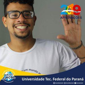 🏆 Parabéns 🏆 Thiago Morais pela aprovação em Engenharia de Controle e Automação na UTFPR - Universidade Tecnológica Federal do Paraná