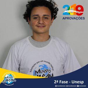 Parabéns Vitor pela aprovação para a 2ª fase da UNESP - Universidade Estadual Paulista