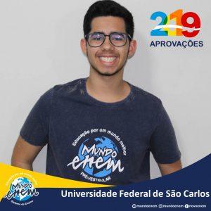 🏆 Parabéns 🏆 Vitor pela aprovação em Ciências da Computação na UFSCar - Universidade Federal de São Carlos