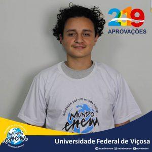 🏆 Parabéns 🏆 Vitor pela aprovação em Engenharia de Alimentos na Universidade Federal de Viçosa - UFV