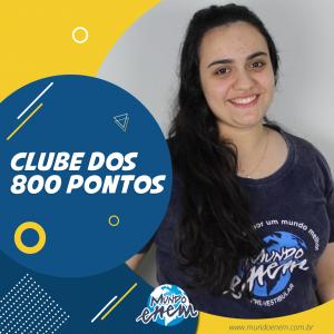 Parabéns Vivian, 940 pontos na Redação do ENEM.