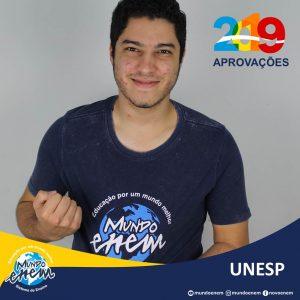 🏆 Parabéns 🏆 Wesley Patrick Barbosa pela aprovação em Engenharia de Produção na UNESP - Universidade Estadual Paulista