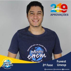 Parabéns Wesley Patrick pelas aprovações para a 2ª fase da USP - Universidade de São Paulo e UNICAMP