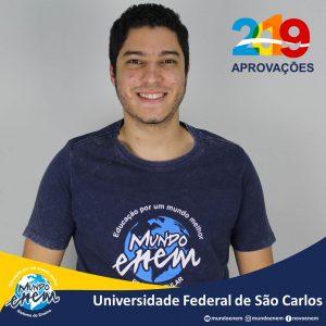 🏆 Parabéns 🏆 Wesley pela aprovação em Engenharia de Produção na UFSCar - Universidade Federal de São Carlos