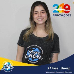 Parabéns Lara pela aprovação para a 2ª fase da UNESP - Universidade Estadual Paulista