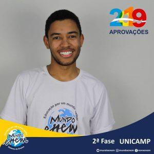 Parabéns Wesley pela aprovação para a 2ª fase da UNICAMP